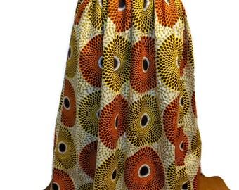 African Print Skirt - African Print Maxi - Skirt with Pockets - African Skirt - Ankara Skirt - Made to Order