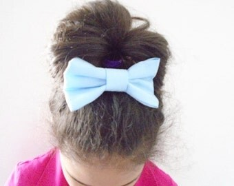 ON SALE ! Blue or Pink bow barrette, Hair bow french barrette