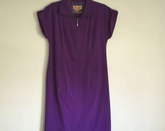 Peck & Peck Women's Weekend Dress - Purple Dress - Vintage Dresses - Spring Dresses - Summer Dresses - Size Small