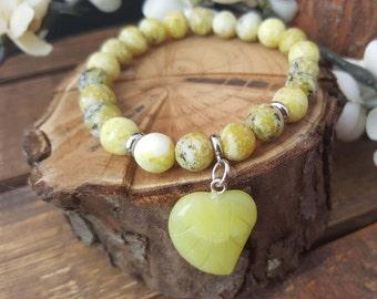 Mala bracelet/  flower turquoise / stainless steel beads/ charm bracelet/ beaded bracelet/ boho bracelet/ energy bracelet/ handmade/ gift
