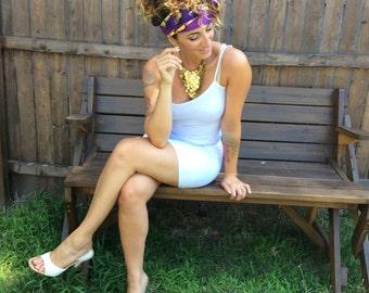 African Headwrap Head Scarf Boho Scarf Wrap Belt Obi Sash Belt Tribal Belt Wrap Scarf Headwrap Dress Sash - The Original Snake Charmer Wrap
