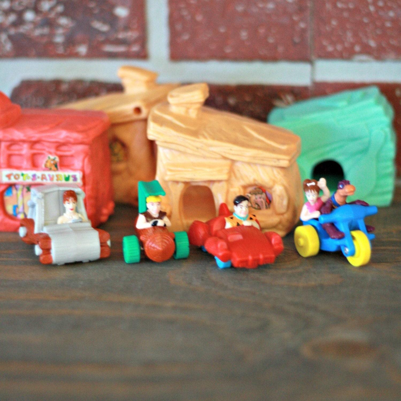Mcdonald Flintstones figurine sets Fred Flintstones toys
