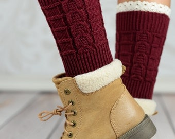 Cabernet Wheat Boot Cuffs