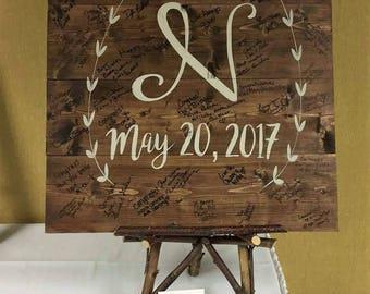 Wedding Guest Book, Wedding Reception Decor, Wedding Decor, Rustic Wedding Signs, Wedding Signs, Personalized Wedding Signs, Weddings, Signs