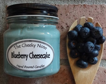 Blueberry Candle, Soy Candle, Scented Candle, Blueberry Cheesecake Candle, Jar Candle, Blue Candle, Scented Soy Candle, Soy Wax Candle
