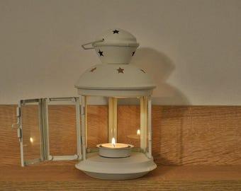 Lanterne blanche métallique Vintage mariage lanterne lanternes de mariage / / lanterne pièce maîtresse de mariage