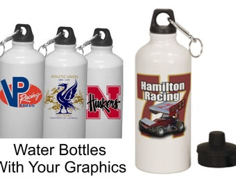 Metal Water Bottles with your Full Color Graphics. Your logo or photo on both sides.