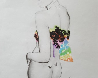 Kate Moss   Chris Kane Swirl