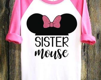 Sister Mouse | Disney Shirts | Disney Family Shirts | Minnie Mouse Shirt | MinnieMouse | Disney Clothing | Sister Shirt | Mini Mouse Shirt