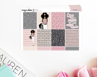 Passion for Fashion | A La Carte Planner Stickers for Erin Condren ECLP VERTICAL
