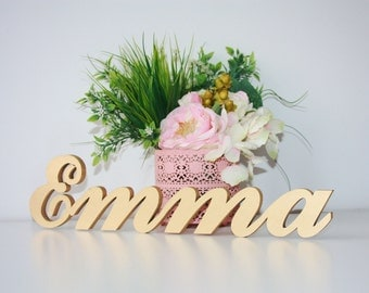 Custom Initial Wood Sign.Table signs.Baby Name Signs.Freestanding  Name Signs.