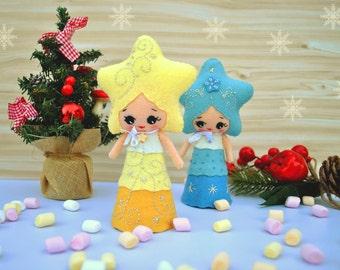 Christmas angel felt baby doll Collectible plush toy Christmas
