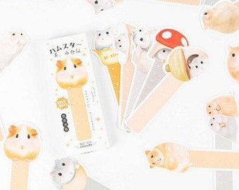 SALE ! 30 Pcs Hamster bookmarks,Hamster rulers in 1 box