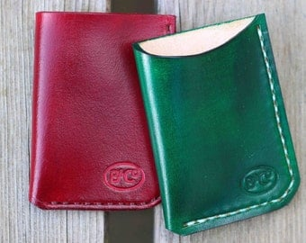 Leather front pocket card wallet