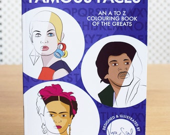 Famous Faces A to Z Colouring Book