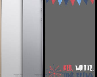 INSTANT DOWNLOAD Memorial Day or 4th of July Snapchat Geofilter Fireworks and Rockets, Red White and Brews