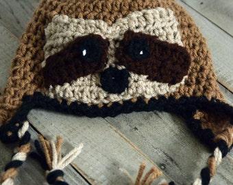 Sloth hat, newborn sloth hat, baby sloth hat, toddler sloth hat, crocheted sloth hat, newborn photo prop, baby photo prop, photo prop