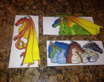 Wings of Fire Dragon Bookmark Set of 3