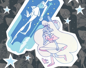 Pearl And Sapphire Stickers