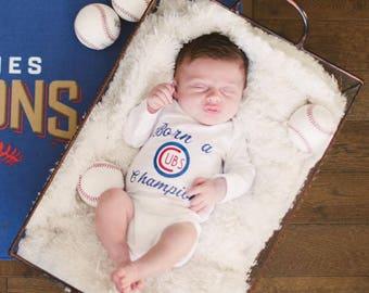 Newborn Onesie, Team Onesie, Sports Onesie, Infant, Chicago Cubs Onesie