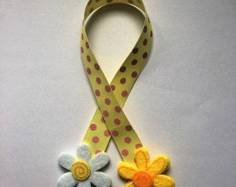 Felt bookmark / Flower felt bookmark / Children's bookmark / Gift Idea / Stocking filler