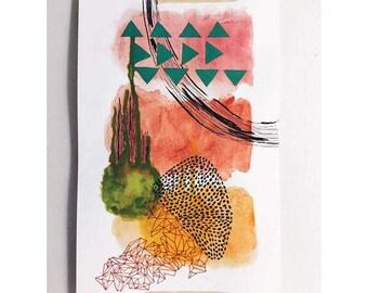 SPRING - Original Abstract Mixed Media Painting