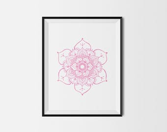 Pink mandala giclée print