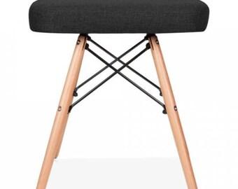 Eames Inspired Upholstered Stool