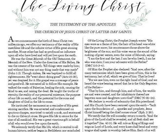 The Living Christ PDF Printable Instant Download
