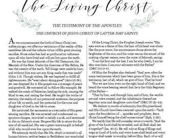 Resource image with the living christ printable