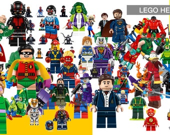 77 Lego Heroes ClipArt - Digital , PNG, image, picture,  oil painting, drawing,llustration, art , birthday,handicraft 300 DPI, 300 PPI