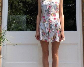 CUSTOMISED Vintage Floral Button-up Tea Dress