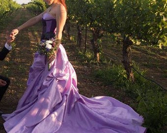 Lavender Couture Dress
