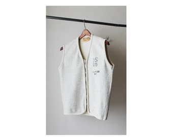 1990's Diesel Off White Sweatshirt Vest