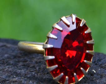 Super Fun Vintage Red Costume Ring