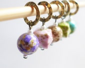 NEW - Dreaming of Spring - Five Handmade Stitch Markers - Fits Up To 6.5mm (10.5 US) - Limited Edition
