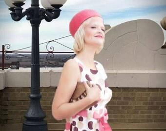 Kindle ebook cover art design Romance Retro Pink Polka Dot Dress