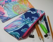 Lilly Pulitzer Perfect Pencil Pouch,Zipper Pouch,Pencil Case, Preppy, (Going Coastal)