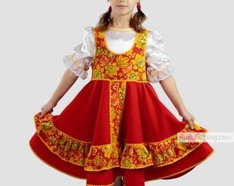 Russian dress, traditional clothing dance wear, russian clothing, dance costume Slavic dress, traditional wear folk costume, russian costume