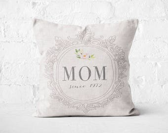 Mother's Day Gift Personalized Pillow Cover Mom Since Gift