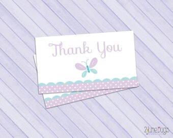 Butterfly Party Favor Tags, Butterfly Thank You Tags, Butterfly Baby Shower, Purple and Turquoise Butterfly, PRiNTABLE INSTANT DOWNlOAD