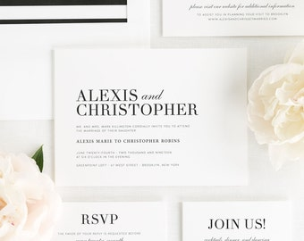 Urban Glamour Wedding Invitations - Deposit