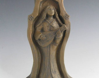 Handmade St Cecilia Statue: Patron of Music and Musicians