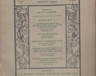 Vintage Art in America and Elsewhere Bi-Monthly Magazine Volume 18 Number 5, August 1930