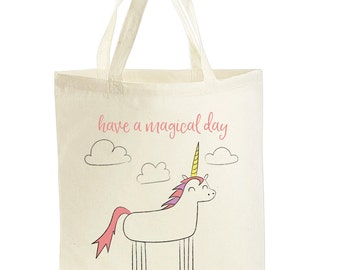 Unicorn Gift - Unicorn Tote Bag - Unicorn Bag - Cute Unicorn Gifts For Girls - Unicorn Lover Gifts