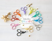 Embroidery Scissors - Colorful Mini Scissors - Shears - Ribbon Scissors - Sharp Scissor - Heart Embroidery Scissors - Storklettes Scissors