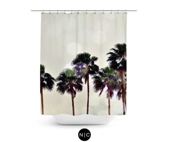 items similar to palm tree family shower curtain light gray beach surf bathroom decor. Black Bedroom Furniture Sets. Home Design Ideas