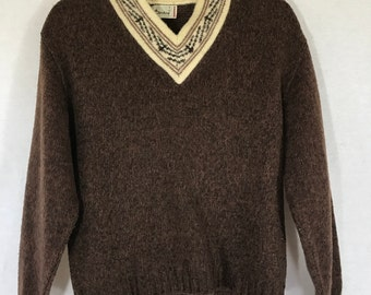 Vintage Boys Brown Sweater Large