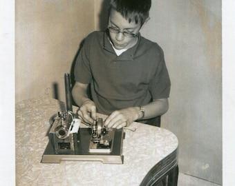Vintage Photo..My Nerdy Brother, 1960's Original Found Photo, Vernacular Photography