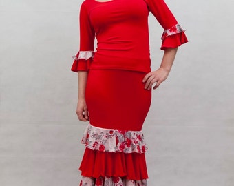 Vereda Flamenco Dress, Red